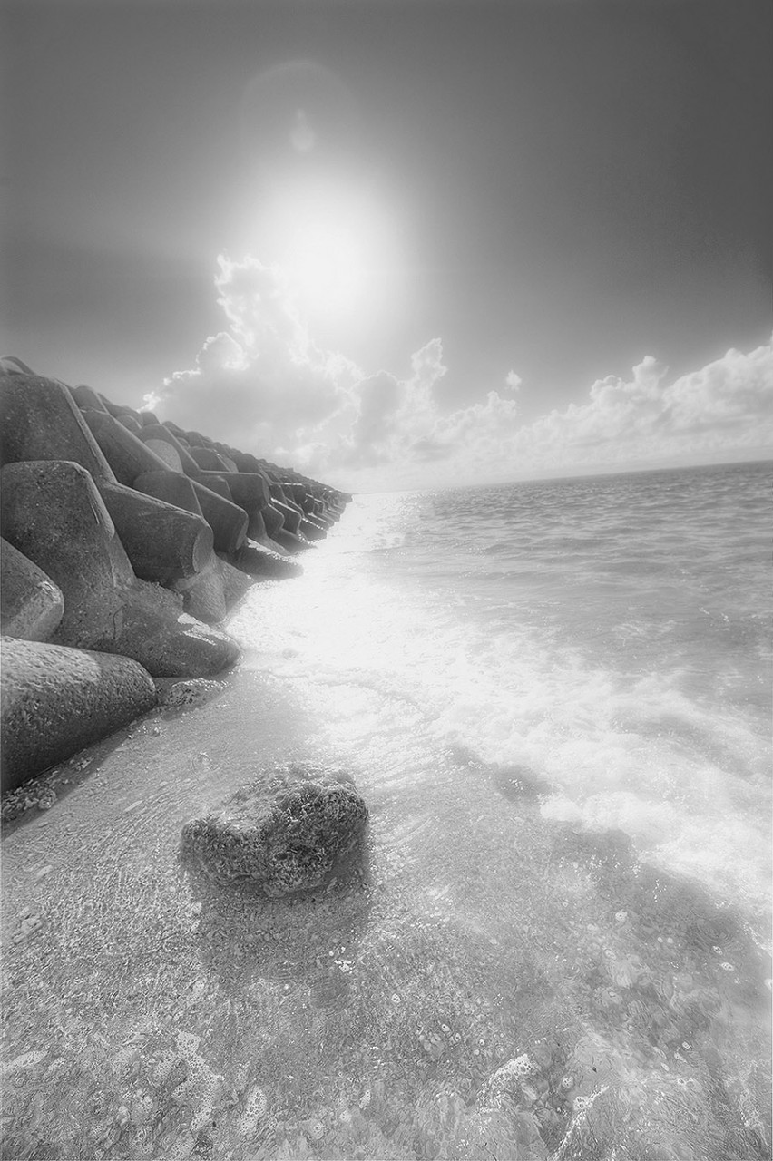 Denver Art Gallery, Photography of the Ginowan Seawall in Okinawa Japan